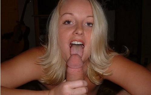 Rubia amateur experta mamadora