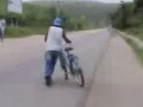 Borracho en bicicleta