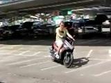 Estrenando la scooter de la mejor manera posible...